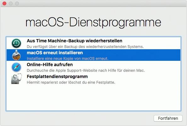 MacOS Dienstprogramme